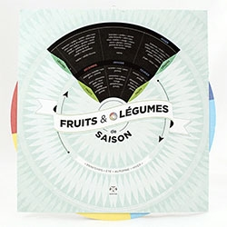 Le Primeur: Fruits & Legumes de Saison - a french paper wheel to let you know what fruits and legumes are in season.