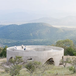 Lookout Point by Swiss architects HHF, the first of eight structures to be completed for the Mexican pilgrimage la Ruta del Peregrino.