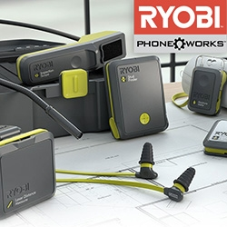 Ryobi Phone Works - turning your iPhone/Android into everything from a Laser Level to Moisture Meter, Inspection Scope to Stud Finder, Infrared Thermometer to Laser Distance Measurer and more...