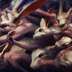 Amazing dark paintings from Japan based artist Ryohei Hase.