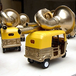 The Fuzzy Logic Project by Marta Santambrogio. This lovely project explores how traffic noise might create music, with individual vehicle sounds coming together to create a moving orchestra, from traffic jam to jam session.