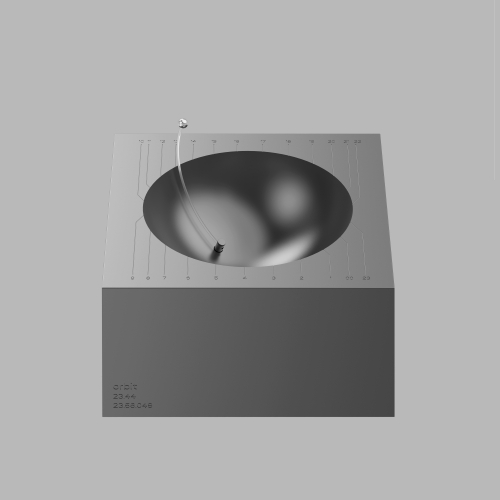 The Orbit table clock has the tilted axis which shows the time and the movement of the sun.