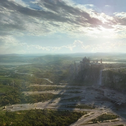 Amazing matte paintings of Star Wars landscapes.  So pretty you almost can't tell it's geeky.