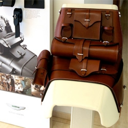 Every Aston Martin DBS clearly needs a handcrafted leather Saddle ~ for random picnics, wine on the beach, and more...