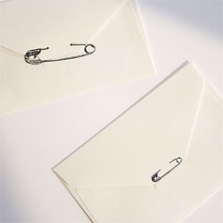 Seal your letters with the tokka safety pin stamp!
