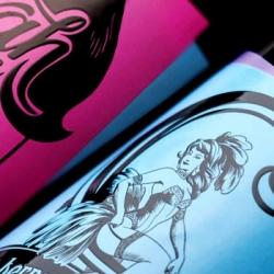 Boldinc's bottle design for Sant & Sinner (S&S)'s calling card range.