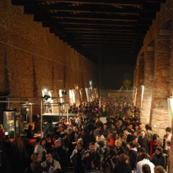 "Vernissage of ""Headlines"" exhibition in Venice. Hundreds interested visitors were at the opening at Magazzini del Sale, an ancient wharehouse in the island. The expo could be visited until 30th of May."