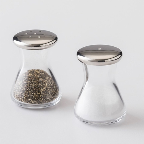 Schoolhouse Electric Glass Salt & Pepper Shakers. Made in Japan.