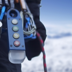 Salus is a mountaineering safety tool for concise communication between parties of climbers or individuals. It uses coloured lights as basic commands to create a conversation.