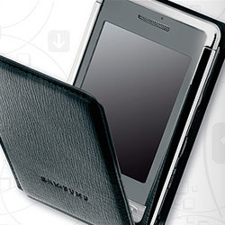 LG did Prada, Motorola did Dolce & Gabbana, apparently the sleek Samsung SGH-P520 is the new Armani Phone