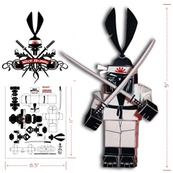 More DIY Print+Cut toys for you.... SAMURAI BUNNIES! from Nice Bunny, there is also a dj and tagger...