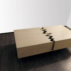 The mexican designer Ricardo Garza Marcos presented the coffee table San Andreas - in tribute to the San Andreas fault...