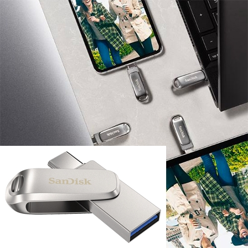 1TB on a tiny USB key! SanDisk Ultra Dual Drive Luxe USB Type-C Flash Drive (that also has USB Type-A!)