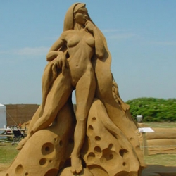Awesome sand sculptures by the King Sand collective.
