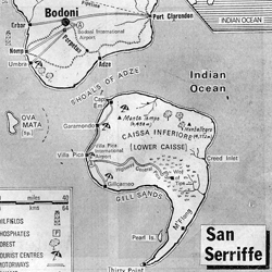 The Semicolonial State of San Serriffe: On April 1, 1977 the Guardian published a seven-page supplement devoted to the previously unknown island state & its capital city, Bodoni.