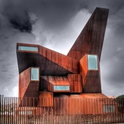 The Church of Santa Monica in Madrid, Spain. Designed by Vicens & Ramos Architects