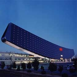Sanyo built an ark to save us all from the tide of carbon polluting energy sources. The Solar Ark, a unique, ark-shaped, solar photovoltaic power generation facility.