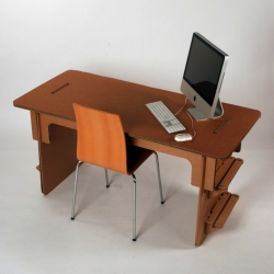 Portsmouth University 3D Design student Savio Ku has designed the £20 Cardboard Desk.
