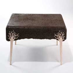 Designer Yoav Avinoam, Shavings are furniture designs from the sawdust of all kinds of woods