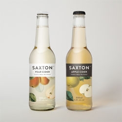 Clean and classic packaging for Saxton Ciders.