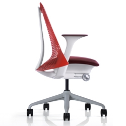 'SAYL' chairs by Yves Behar for Herman Miller. Inspired by the principles of suspension bridges, they are 93% recyclable and have affordable pricetags.
