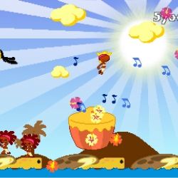 Do The Whirlwind is a mix of an old school platform and rhythm game. Collect points by grabbing the stars. Jump on beat to receive bonus. Do not fear falling. This game is not about dying.