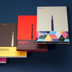 Scalpel is a series of books that feature works across various fields showcasing inspiring and creative work.
