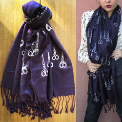 Antique Scissor Scarf by EMMA GRADY for Snoozer Loser NY