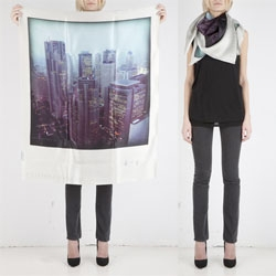 100 percent silk scarfs with great Polaroid looks by Philippe Roucou.