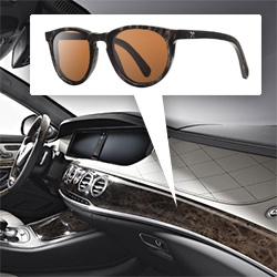 Schwood and Mercedes-Benz create wooden sunglasses from the same wood as the new 2014 S-Class dashboard. 4 models, limited edition of 10 each.