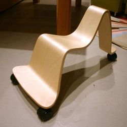 Svan Scooter - Swedish design at its finest? Mixing play and sleek bent wood.... i need one, as does every kid out there.
