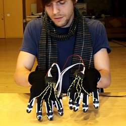 "Billy Joel probably didn't have piano gloves in mind when he first crooned the song ""Piano Man."" A student at the Motion Design program at Cornish College of the Arts in Seattle designed a pair of digitally enhanced gloves..."