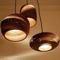 Scrap Lights by Graypants are not only beautiful, they're sustainably made from twice recycled cardboard.