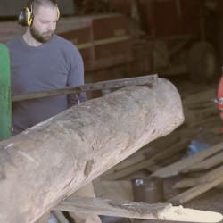 "Cool video of HollerDesign's ""farm to furniture"" process. Logs are selectively harvested from the family farm, milled into lumber then made into furniture."