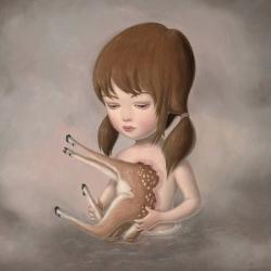 Creepy yet beautiful paintings by Ana Bagayan...