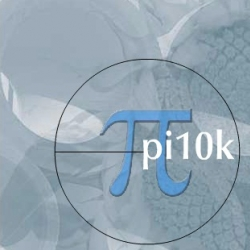 Pi10k - This experiment attempts to convert the first 10,000 digits of pi into a musical sequence.  you pick the scale or ten notes of your choice and watch it go.