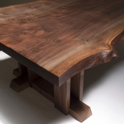 Amazing furniture by MRCW Design. No screws. No Nails. No Bolts. Wonderful raw edges mixed with precision workmanship.