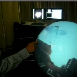 Flat-panel displays might be all the rage, but at least in some situations, Microsoft thinks the shape of things to come might be a sphere.
