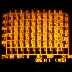 World Famous Design Junkies presents a collection of almost 100 different bowling scoreboards. Mostly electronic, mostly wild, all swanky.