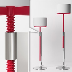 Screw Me family of lighting objects by Jonathan Rowell... simply spin it to raise or lower!