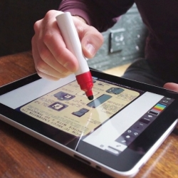 Made to resemble a marker pen, Scribbly, is an old school style stylus for your iPad giving the perfect grip for wireframing or sketching.