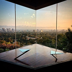 A peek into LA Architecture - the the iconic (and film and music video famous) Sheats Goldstein residence by John Lautner, Wallis Annenberg Center for the Performing Arts, and the North Faring residence with Cadillac.