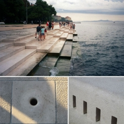 Sea Organ, an architectural/musical experiment located in Croacia.