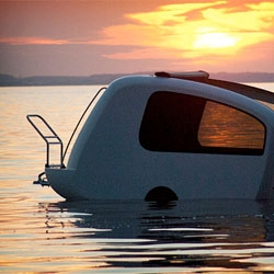 The Sealander, a caravan on the water.