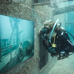 The Vandenberg, Life Below the Surface, An underwater photogallery on the artificial reef General Hoyt S. Vandenberg, The works by Andreas Franke are mounted 100 feet below sealevel and approximately seven miles south of Key West.