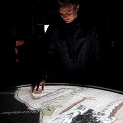 Gagarin has designed an interactive table for the Sea Monsters Centre in Bildudalur Iceland, opened in June 2009. The table shows a map of Arnarfjord wherein visitors can hunt for monsters in the fjord and find tales stories deriving from the area.
