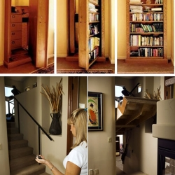 "Creative Home Engineering specializes in building secret doors and passageways in your home.  I don't know what to say except, ""Yes, please!"""