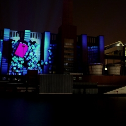 Video of the large scale architectural projection mapping by Seeper at the Autostadt, Wolfsburg.