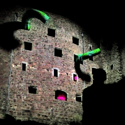 "One of the best video mapping outdoor installations created by Seep. ""Battle of Branchage"" projected on Gorey Castle is visually stunning."