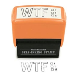 Knock Knock Self Inking WTF?!?! Stamp